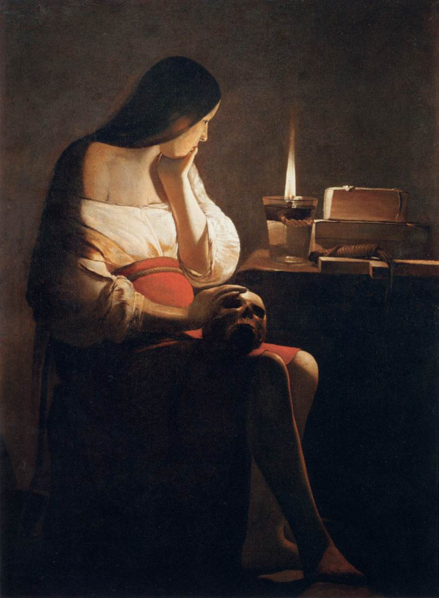 Georges_de_La_Tour_-_Magdalen_of_Night_Light_-_WGA12337